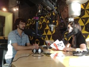 Entrevue radiophonique à CIBL.